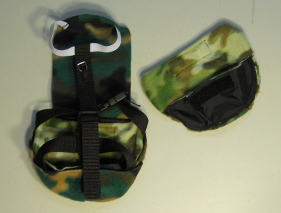 Camo Duck Diaper Holder with ring back