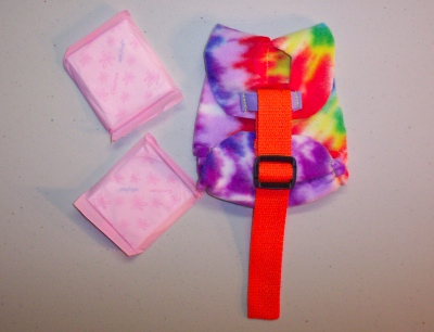 Orange w/ Tie Dye Print Hatchling Diaper Holder