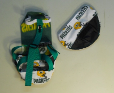 Green Bay Packer Duck Diaper Holder BACK