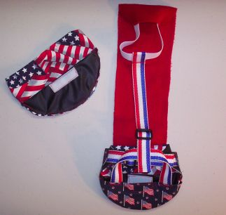 Red, White & Blue Goose Diaper Set